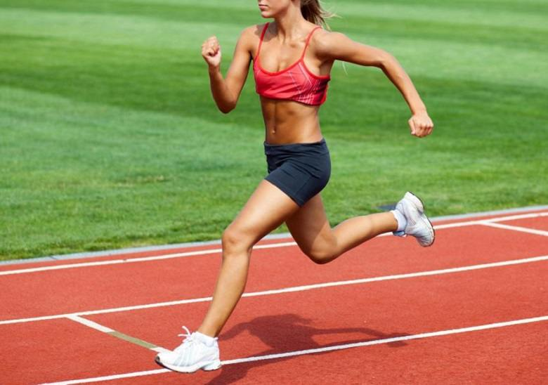 woman running shorts