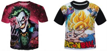 printed sublimated tshirts