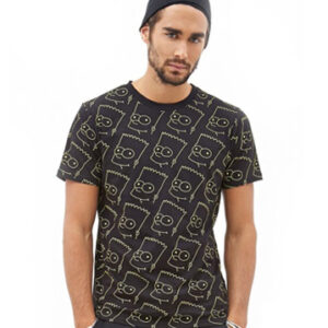 Black sublimated tee for men
