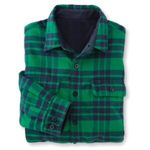 Green and Blue Check Flannel Shirt