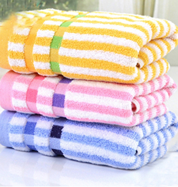Ritzy striped sublimated towel set