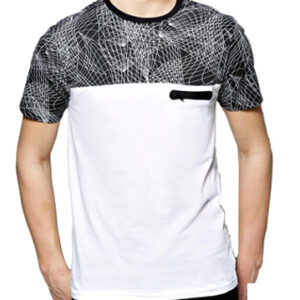 Black and white sublimation Polo Shirt