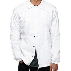 blank long button jacket