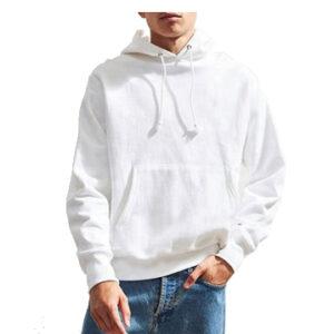 blank regular white hoodie