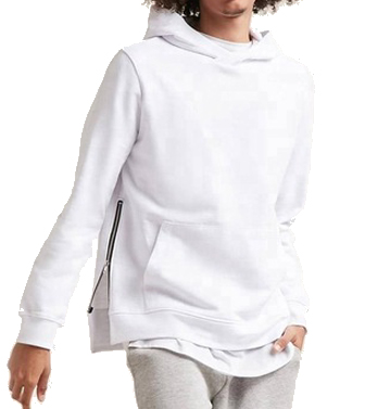 blank side zipper hoodie