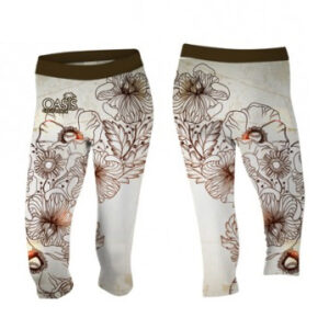 floral sublimated capri
