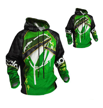 Green and Grey Sublimated Hoodie
