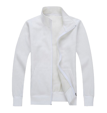 high collar blank sports jacket