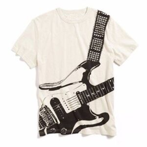 printed white sublimated tee