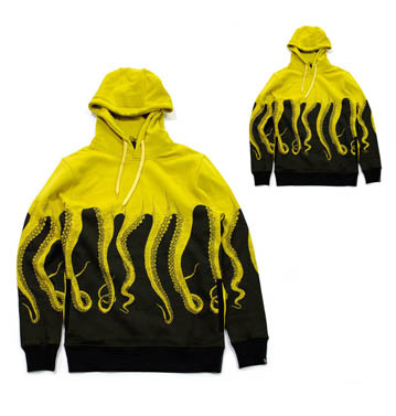 Octopus Patterned Sublimated Hoodie