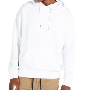 straight fit white hoodie