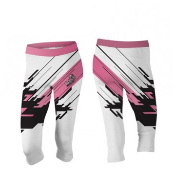 Sublimated Pink Women Capri Shorts