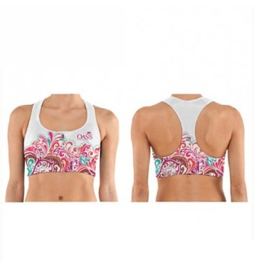 Sublimation sports bra