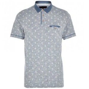 White & Grey Sublimation Polo Shirt