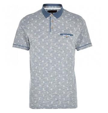 White & Grey Sublimation Polo Shirt